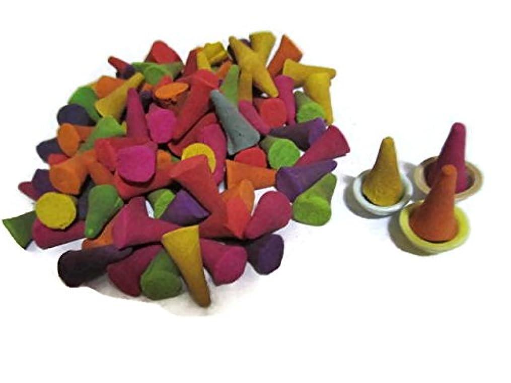 後ろ、背後、背面(部発見数学Incense Conesミックスのさまざまな香り(パックof 100 Cones )タイ製品