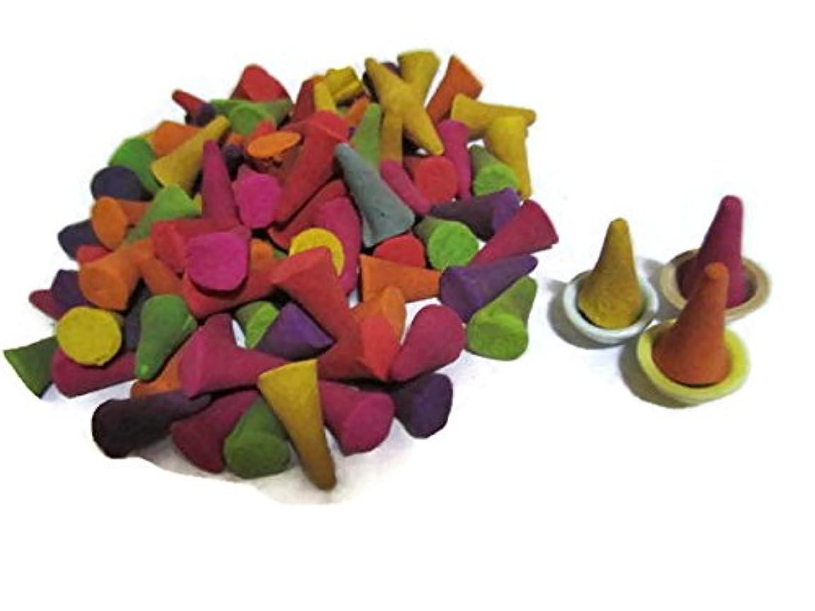 質量黒くする匹敵しますIncense Conesミックスのさまざまな香り(パックof 100 Cones )タイ製品
