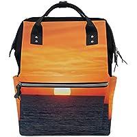 ママバッグ マザーズバッグ リュックサック ハンドバッグ 旅行用 海上日出 プリント ファション