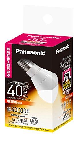 パナソニック LED電球 口金直径17mm 電球40W形相当...