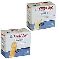 American White Cross 21017M Adhesive Bandages Plastic Strips 1 x 3 [並行輸入品]
