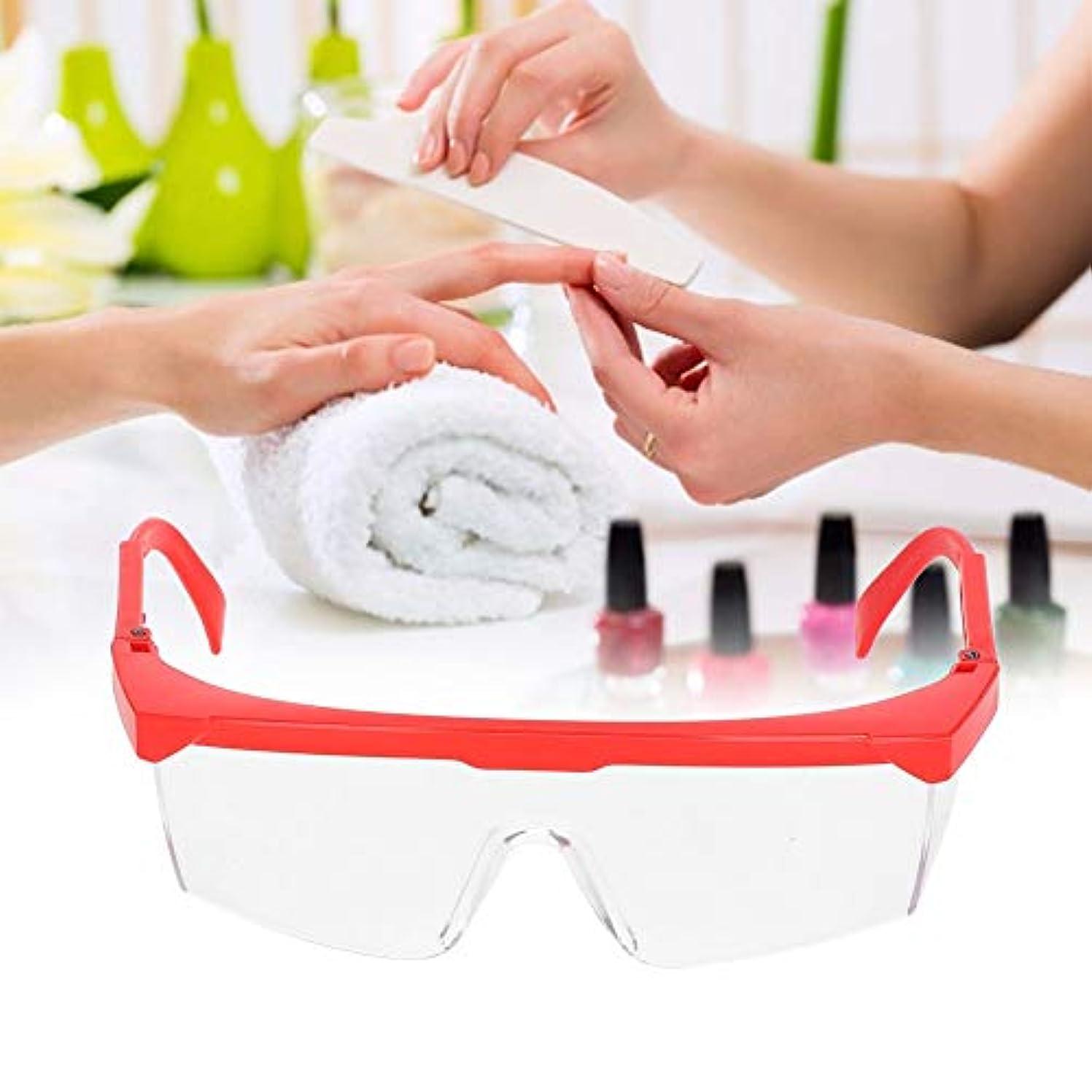力コンバーチブル証明Yuyte Nail Art Anti UV Glasses-UV Gel Soak Off Gel Nail Dust Collection Dust Proof Glasses(01)