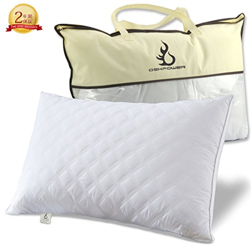 OSKPOWER 安眠 枕 ソフトタイプ 快眠枕 高反発枕 頚椎サポート 人気 健康枕 横向き対応 肩こり対策 立体構造 43x63 CM 丸洗い可能 (2年間保証付き)【改良版】