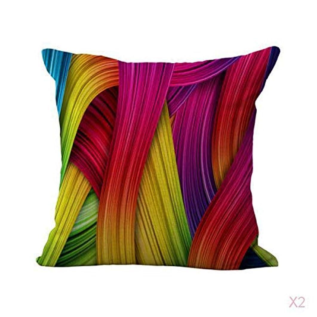 方言リップ個人的に色のリボンプリントコットンリネンスロー枕カバークッションカバー装飾