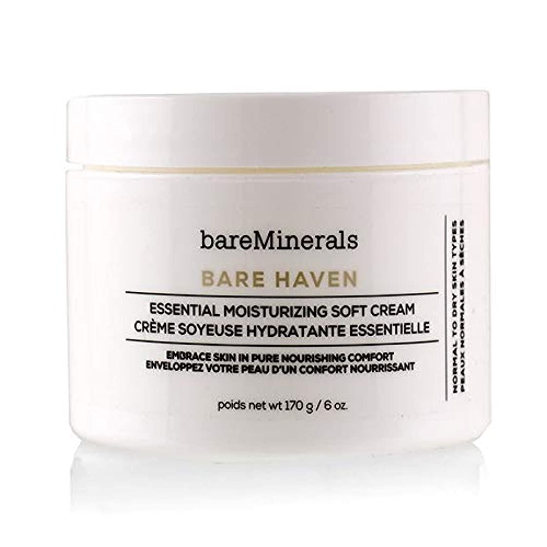 オペレーター風代表ベアミネラル Bare Haven Essential Moisturizing Soft Cream - Normal To Dry Skin Types (Salon Size) 170g/6oz並行輸入品