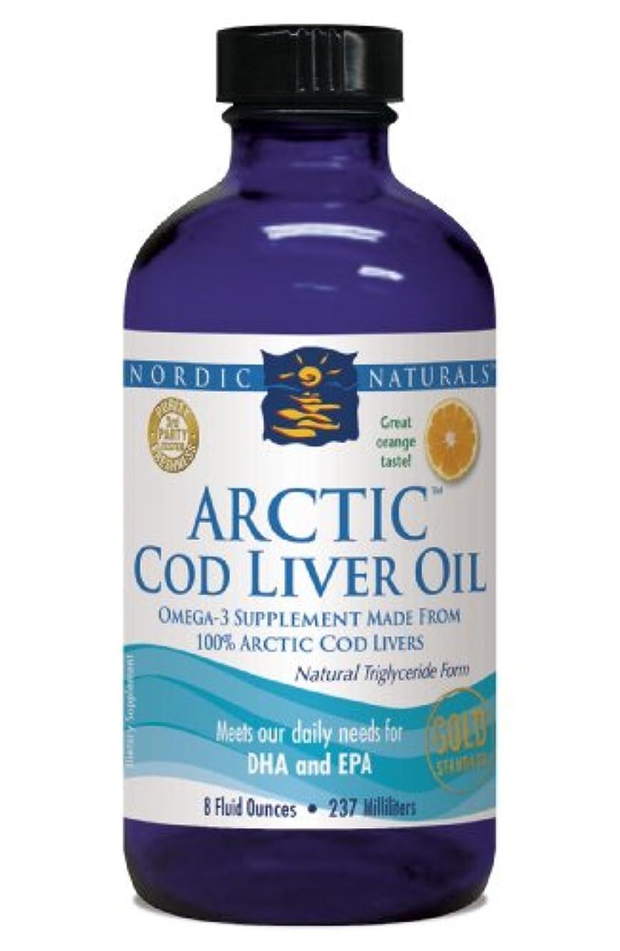 泣き叫ぶ底独占Nordic Naturals 北極圏 CLO - タラ 肝油 オレンジ フレーバー 8 オンス