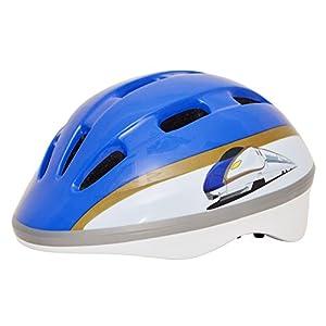 Kanack(カナック) キッズヘルメット 北陸新幹線 E7系 かがやき ブルー H003_E7 (頭囲 50cm~56cm)
