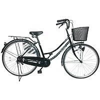 送料無料 シンプルな自転車 ブラック 黒 ママチャリ 26インチ サントラスト スソ