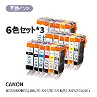 canon キヤノン BCI-320 321 6MP 汎用インク 汎用 BCI-320/321/6MP 6色セット×34580682445260