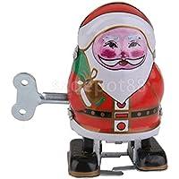 クリスマスサンタクロースWind Upウォーキングロボットクリスマス装飾/キッズおもちゃ/ギフト