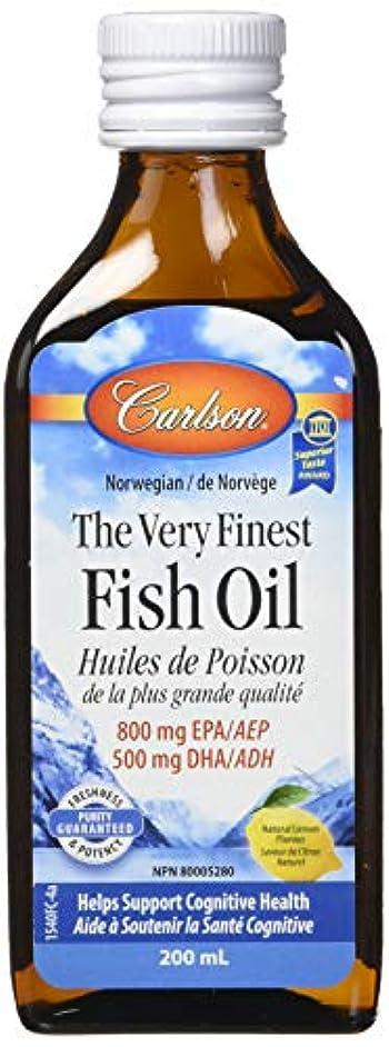 ケージ輝く決定的Carlson Labs - 最高級のノルウェーの魚の油の液体 Omega-3 DHA & EPA レモン風味 - 6.7ポンド