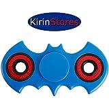 Kirinstores(TM)Finger Spinner fidget Spinner バットマン?フィジェットSpinnerアンチストレスおもちゃを解放する不安ストレス高速フォーカス玩具 (青)