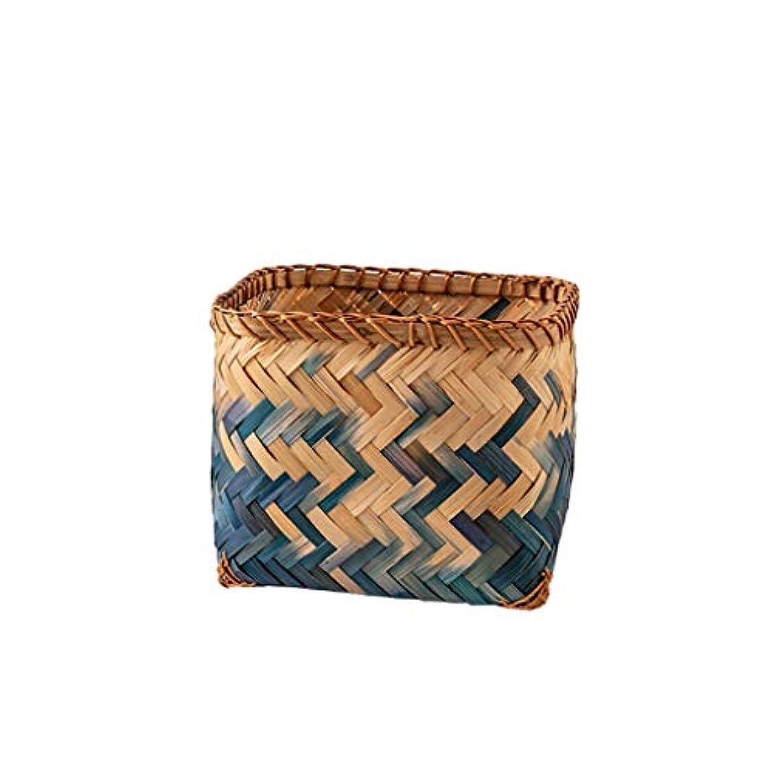 ラベンダー百年山積みのQYSZYG 手作りの竹製バスケット、手織り、がれき、グラデーションを入れることができます 収納バスケット (サイズ さいず : C)