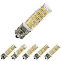 hbgd e17LED電球電子レンジオーブンライト5ワット暖かいホワイト3000K調光機能付き76x 2835smd ac110–120V(5パック) led e17
