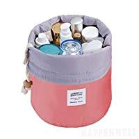 HappenWell Bucket Barrel Shaped Cosmetic Pouch | Cosmetic Round Pouch | Makeup Bag Travel Case Pouch (multi-Color)