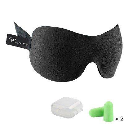 Wincome 3D立体型 睡眠 快眠グッアイマスク 軽量・究極の柔らかシルク質感 睡眠、旅行に最適 (フリーサイズ)