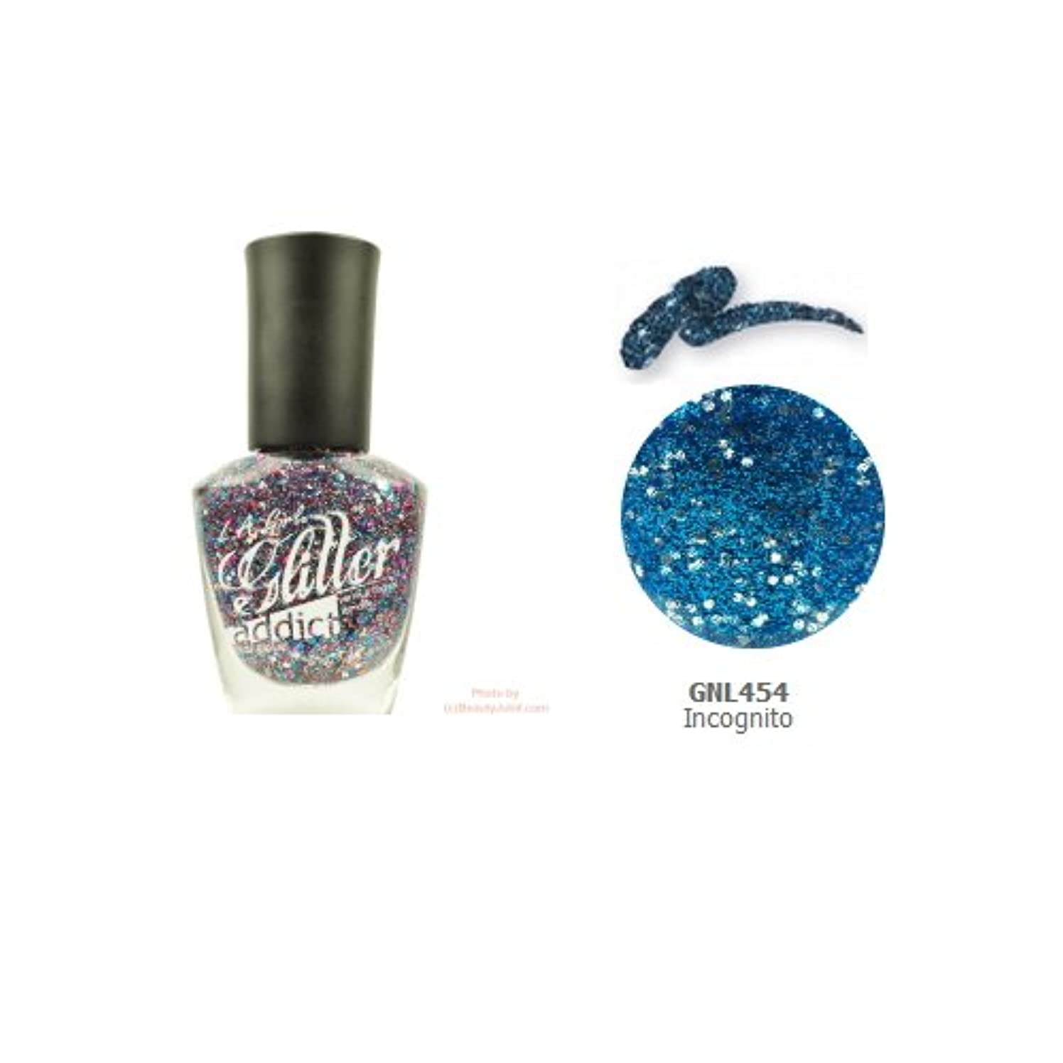宿蒸スマイル(3 Pack) LA GIRL Glitter Addict Polish - Incognito (並行輸入品)