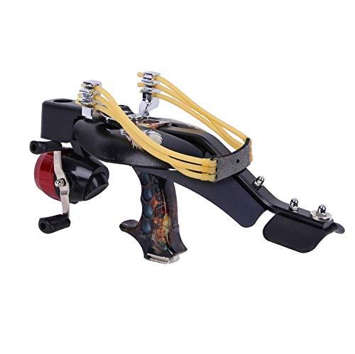 パチンコ 屋外パチンコ 魚の射撃装置セット 狩猟魚ツール 釣りホイール 釣りリール 強力 大人用