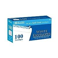 BAZIC # 63/ 4self-sealホワイト封筒、24パック100/パック