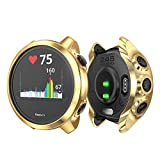 KPYJA Compatible with Garmin Forerunner 245 Music Case, Soft TPU Slim Protective Bumper Cover Saver Shell for Garmin Forerunner 245 Music Smartwatch (Gold)