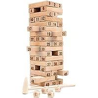 Babe Rock Timberタワー木製ブロックStacking Game – Senior Beech ( 55ピース) イエロー MZO916