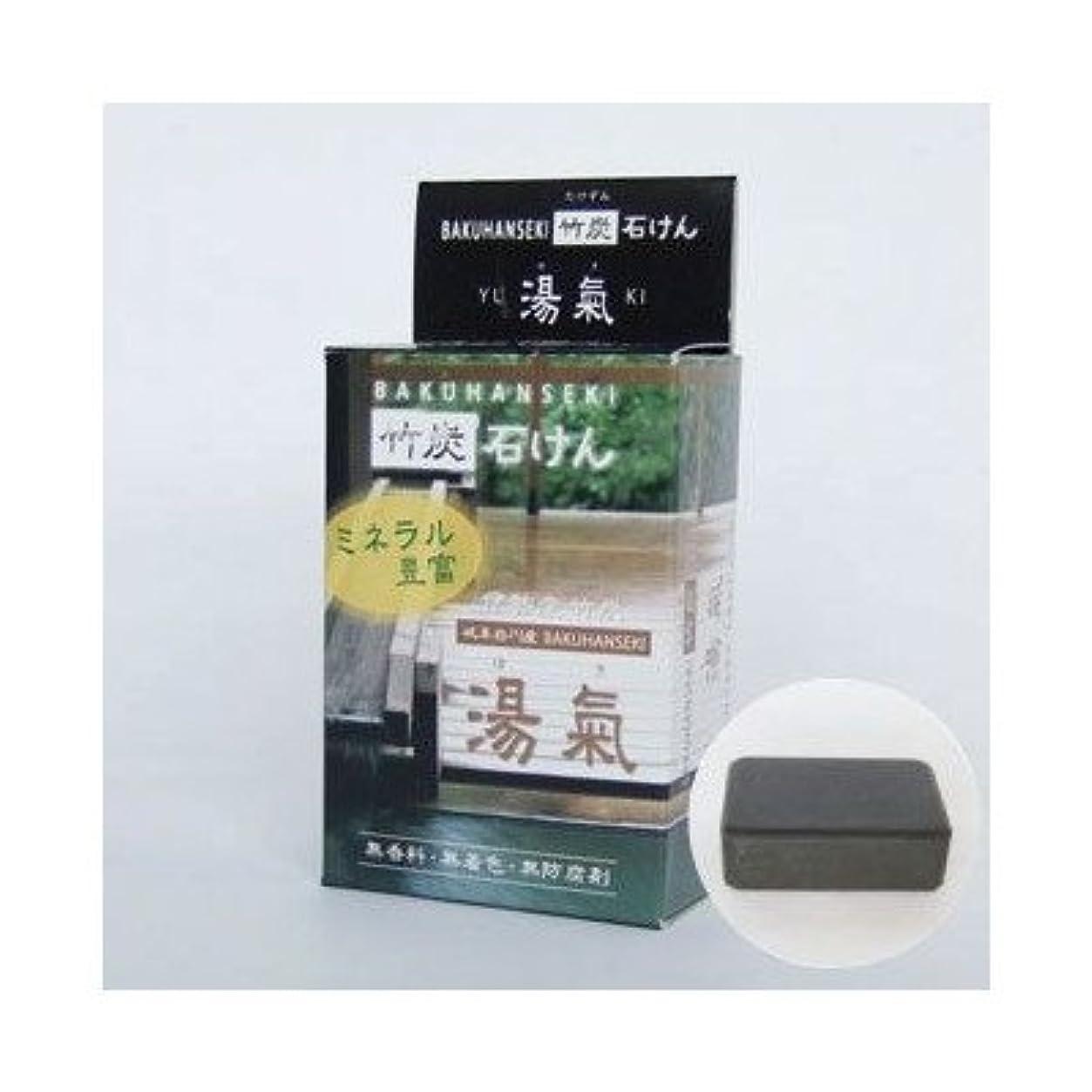 建物橋脚敏感な麦飯石竹炭石鹸 湯気 2個セット