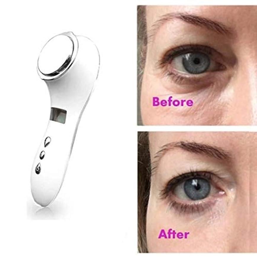 ソーセージ傷つきやすいパテマッサージ機、振動機能付きマッサージ装置、ホット&コールド、ソニックフェイシャルマッサージ装置、イオン入力フェイシャル振動のディープクリーニング、肌の代謝を促進 (Color : White)