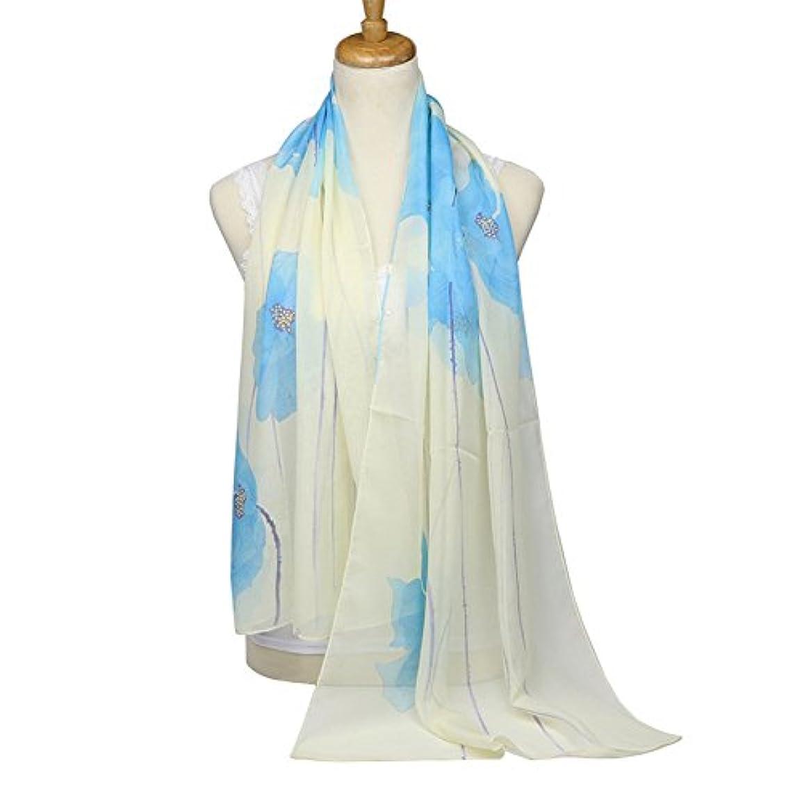 おめでとうアニメーション肌寒い柔らかい レディース プリーツ シフォン スカーフ ショール エレガント 高品質 高級感 全4色 160x50CM