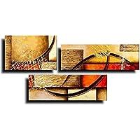 【油彩画SHOP ART】人気 手書きの油彩画 アートパネル 3パネルセット イメージのレンガ W0011 モダンアート 絵画 インテリア 壁掛け 油絵 油彩画 抽象画 壁飾り ウォールアート 凸凹質感 おしゃれ 人気
