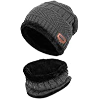 WINTERCODE Boy Thick Hat And Scarf Set Curl Cotton Knitted Winter Fur Pompom Ears Caps Dot Girl Cap BABY Hat Scarf