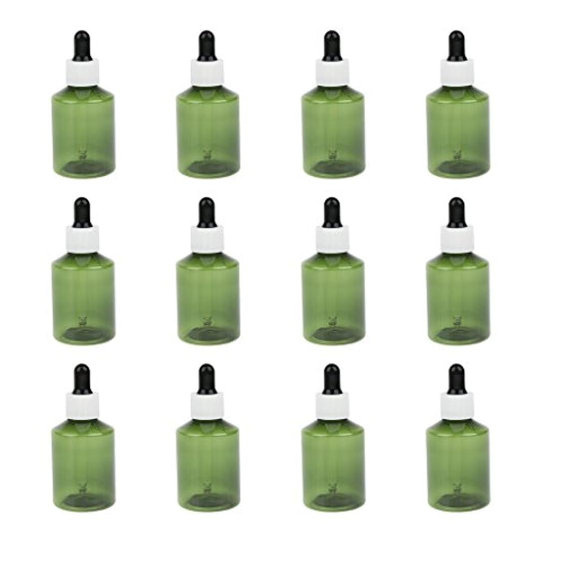 溢れんばかりの肥料材料ドロッパーボトル 詰め替え式 点滴びん 50ml エッセンシャルオイル 精油 6仕様選べ - ホワイトキャップブラックドロッパー