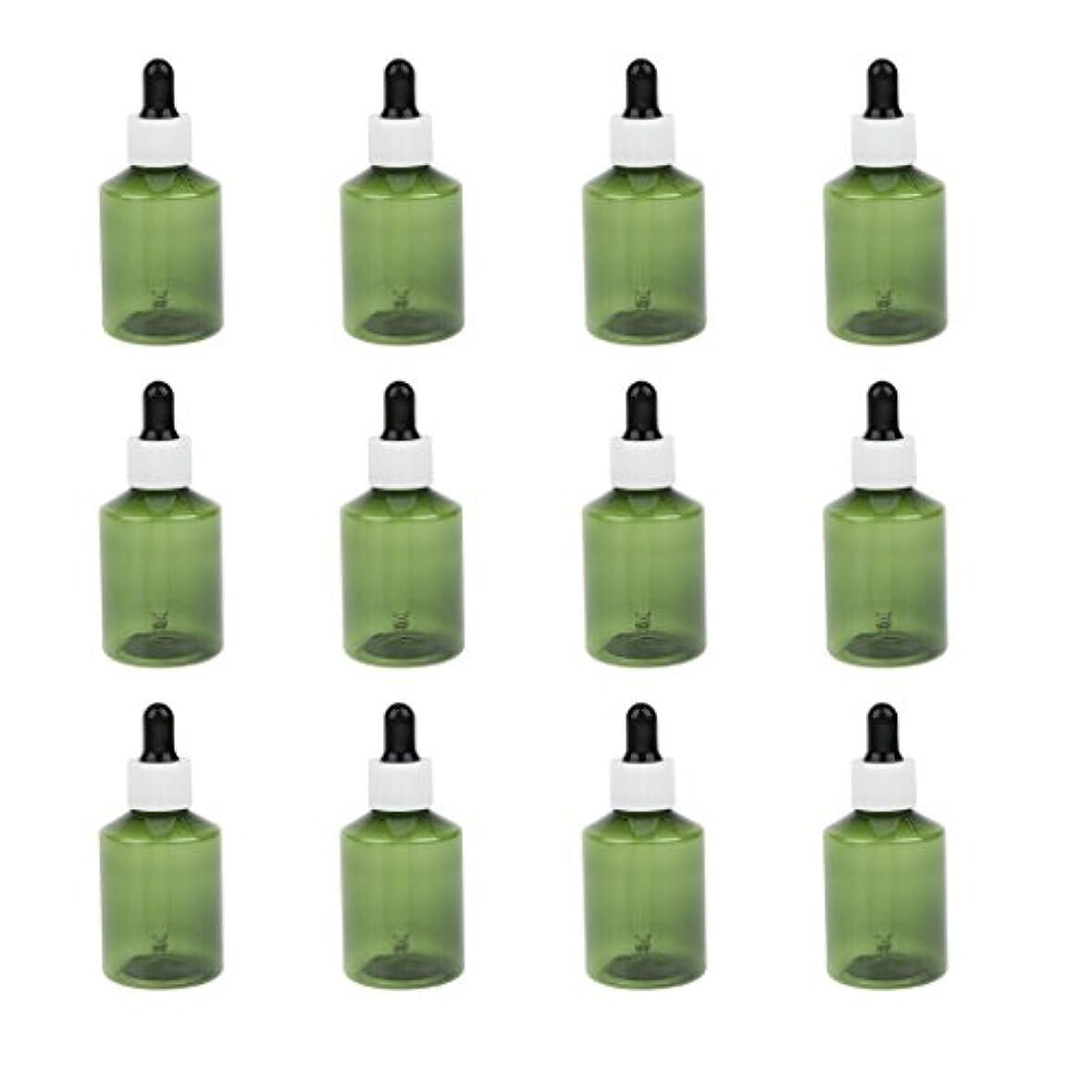 公平行薬ドロッパーボトル 詰め替え式 点滴びん 50ml エッセンシャルオイル 精油 6仕様選べ - ホワイトキャップブラックドロッパー