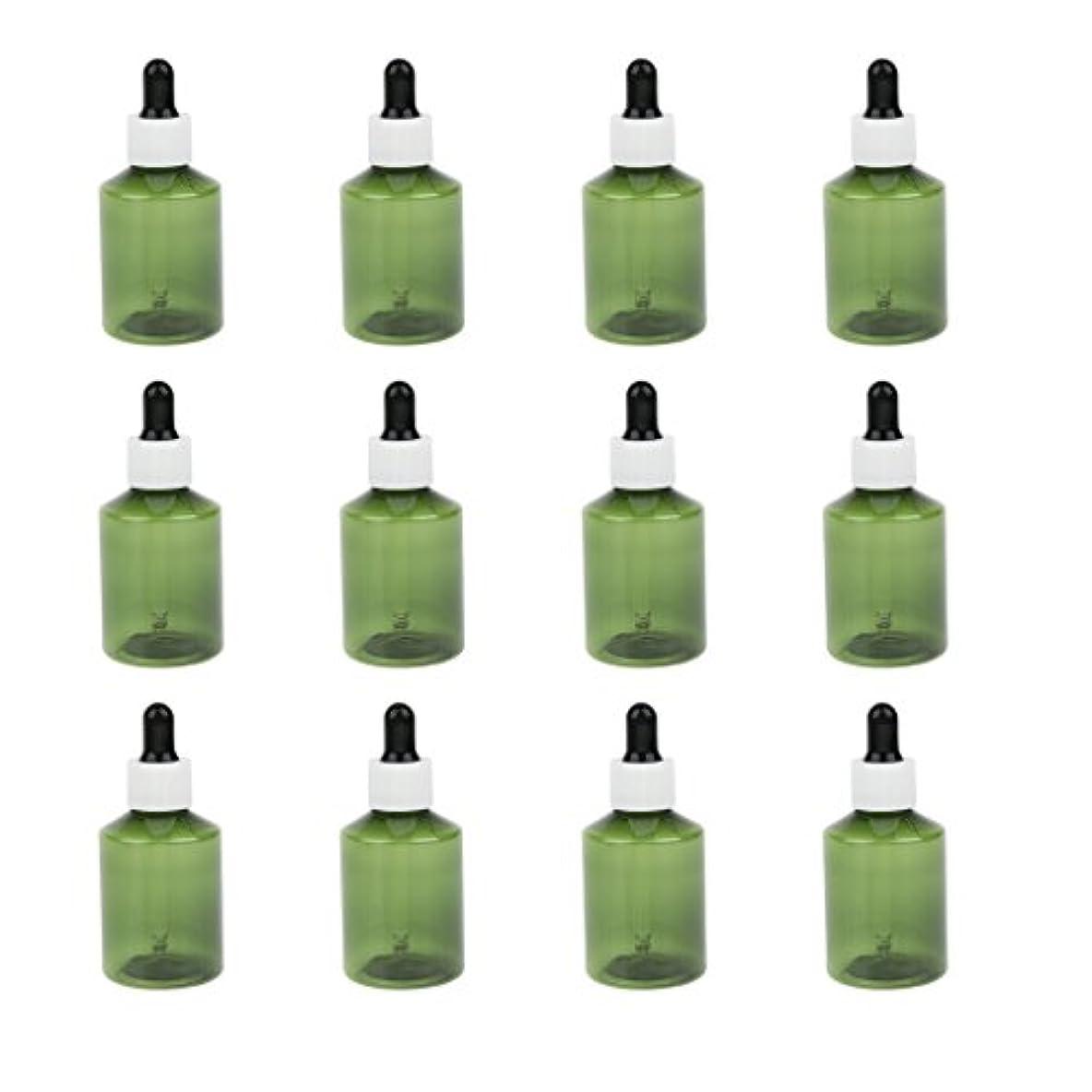 南方の単独でドロッパーボトル 詰め替え式 点滴びん 50ml エッセンシャルオイル 精油 6仕様選べ - ホワイトキャップブラックドロッパー