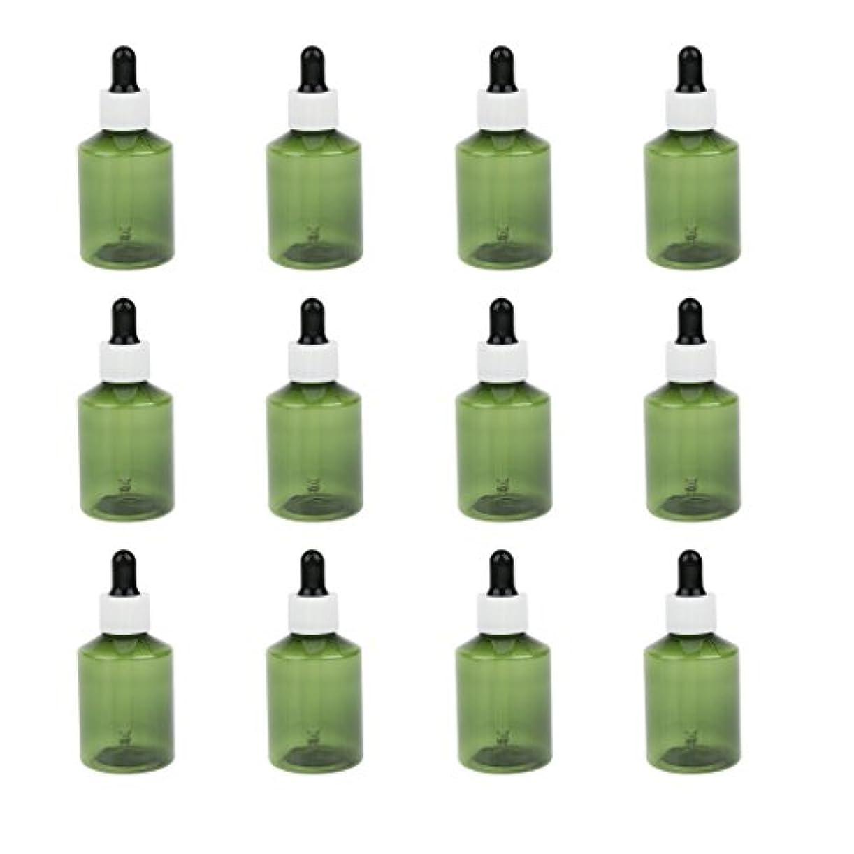 腐った定義不機嫌そうなドロッパーボトル 詰め替え式 点滴びん 50ml エッセンシャルオイル 精油 6仕様選べ - ホワイトキャップブラックドロッパー