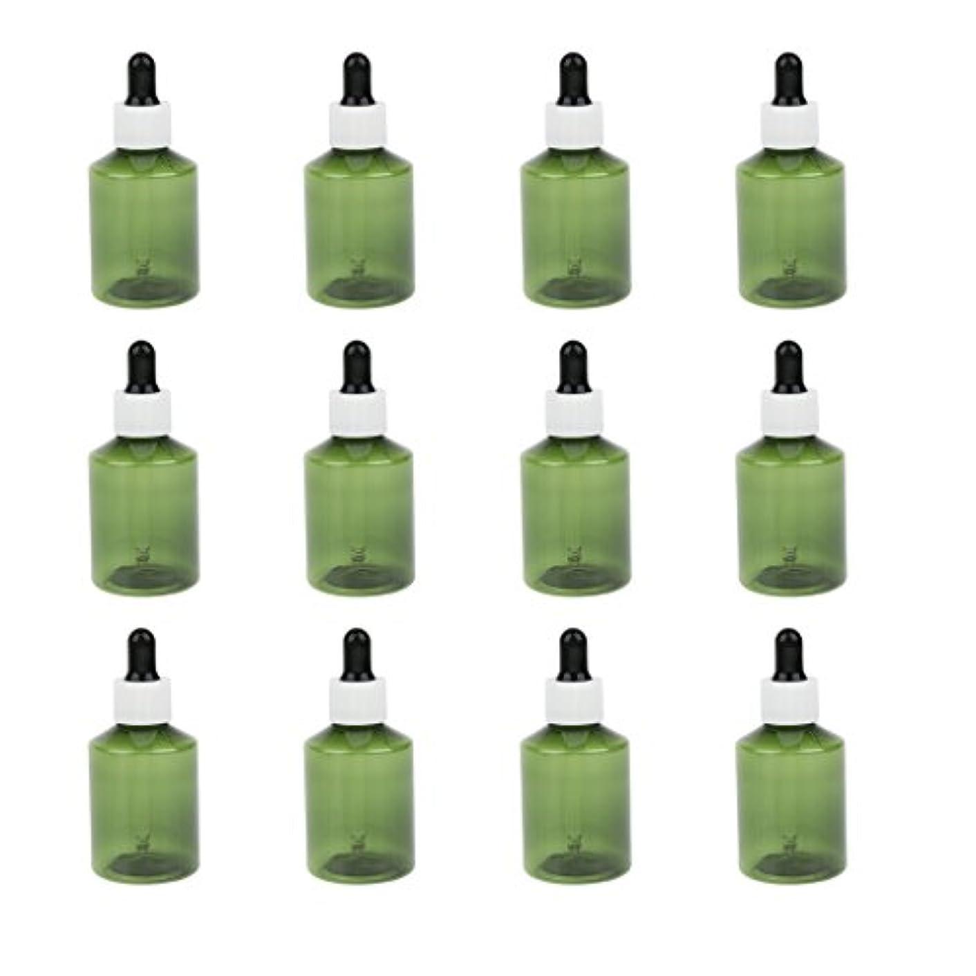 公爵夫人最終的にたっぷりドロッパーボトル 詰め替え式 点滴びん 50ml エッセンシャルオイル 精油 6仕様選べ - ホワイトキャップブラックドロッパー