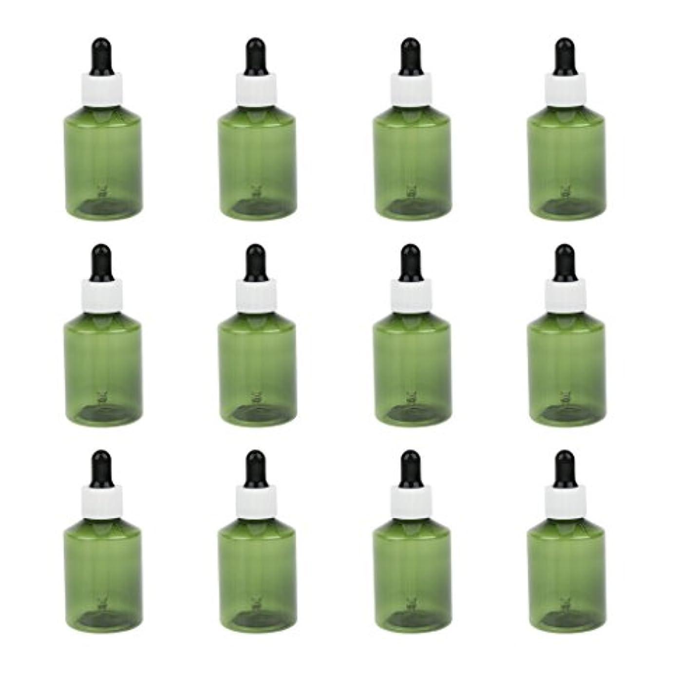 有力者暖かくものドロッパーボトル 詰め替え式 点滴びん 50ml エッセンシャルオイル 精油 6仕様選べ - ホワイトキャップブラックドロッパー