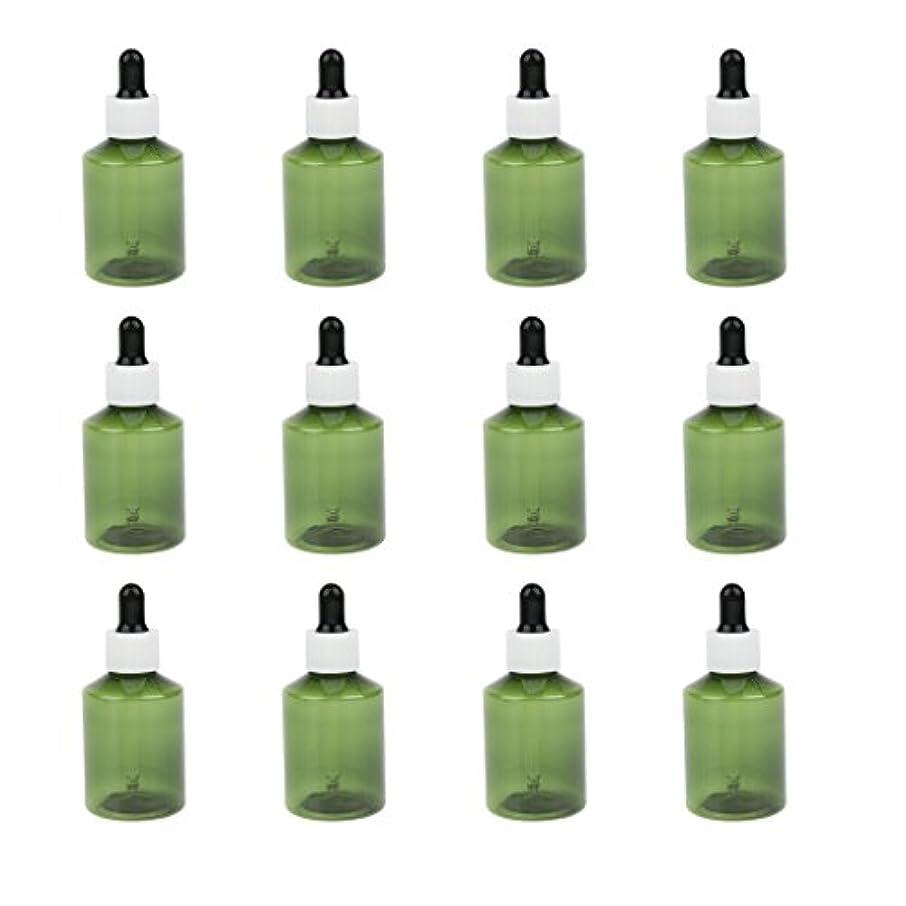 Hellery ドロッパーボトル 詰め替え式 点滴びん 50ml エッセンシャルオイル 精油 6仕様選べ