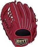 ZETT(ゼット) 少年野球 軟式 グランドヒーロー グラブ (グローブ) 新軟式ボール対応 オールラウンド用 レッド(6400) 左投げ用 BJGB72950