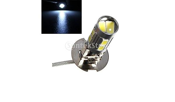 2x H3 40-SMD 4014 LED Bulbs XENON Cool White 6000K Car Fog Light Lamp DC 12V
