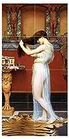 "Bathの準備by John William Godward People Girl Womanタイル壁画キッチンバスルーム壁後ろの油ストーブ範囲シンク止め板2x 44.25インチセラミック、光沢 6"" Ceramic, Matte S422__2x4_6iCerMat_Tile_Mural"