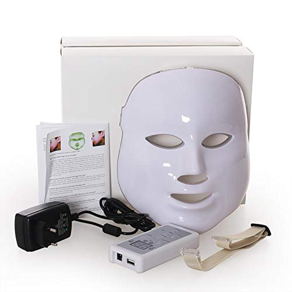 観光に行くくすぐったい二度Led のマスク、7色はしわ、にきび及び健康な皮の若返りのコラーゲン、反老化の美のマスクのための軽い療法の顔のスキンケアのマスクを導きました