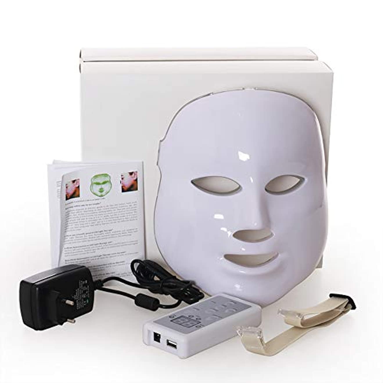 耕すページスマイルLed のマスク、7色はしわ、にきび及び健康な皮の若返りのコラーゲン、反老化の美のマスクのための軽い療法の顔のスキンケアのマスクを導きました