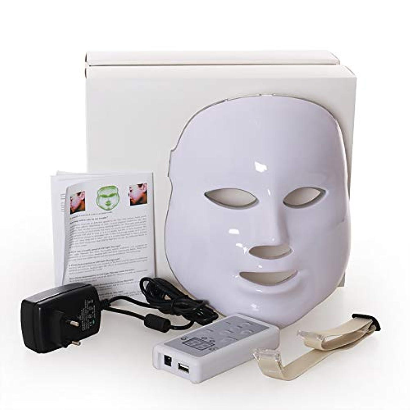 今旅行者何Led のマスク、7色はしわ、にきび及び健康な皮の若返りのコラーゲン、反老化の美のマスクのための軽い療法の顔のスキンケアのマスクを導きました