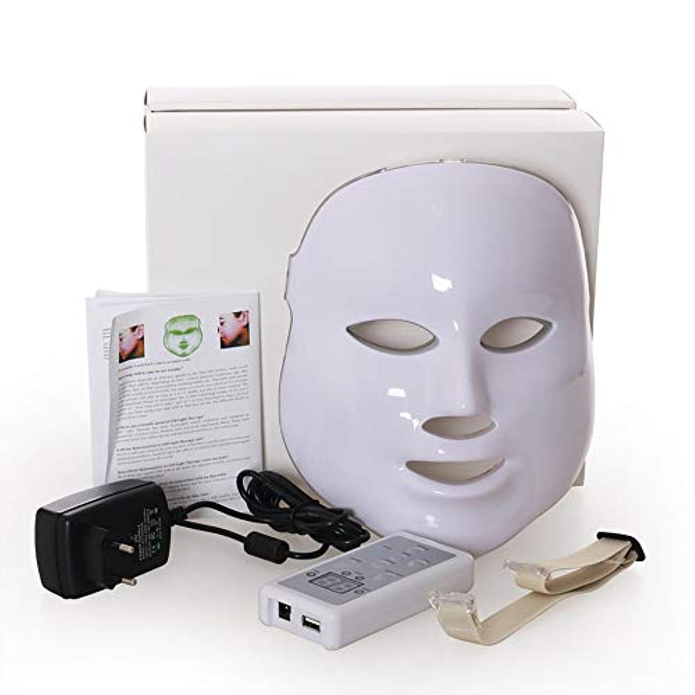 敬意傭兵うんLed のマスク、7色はしわ、にきび及び健康な皮の若返りのコラーゲン、反老化の美のマスクのための軽い療法の顔のスキンケアのマスクを導きました