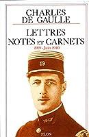 Lettres-notes 1919-juin 1940