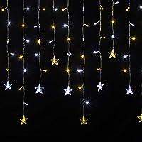 クリスマス イルミネーション LED 168球 つららスター イルミネーション (暖色&ホワイト)