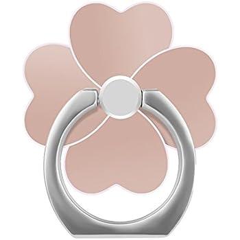 Morimokuスマホリングスタンド 全4色ring holder 四葉のクローバー ホールドリング 全スマホタブレート対応 通用 iPhone/iPad/iPod/Galaxy 指1本で保持・落下防止・スタンド機 360度回転機能 (金色)