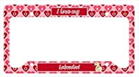 Carolines Treasures LH9158LPF 12 x 6 in. Labrador Valentines Love and Hearts License Plate Frame