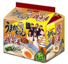 5個パック うまかっちゃん〈鶏白湯とんこつ〉HKT48のイラスト付き 【amazonプライム対象商品です。ギフトラッピングも承ります。】 -