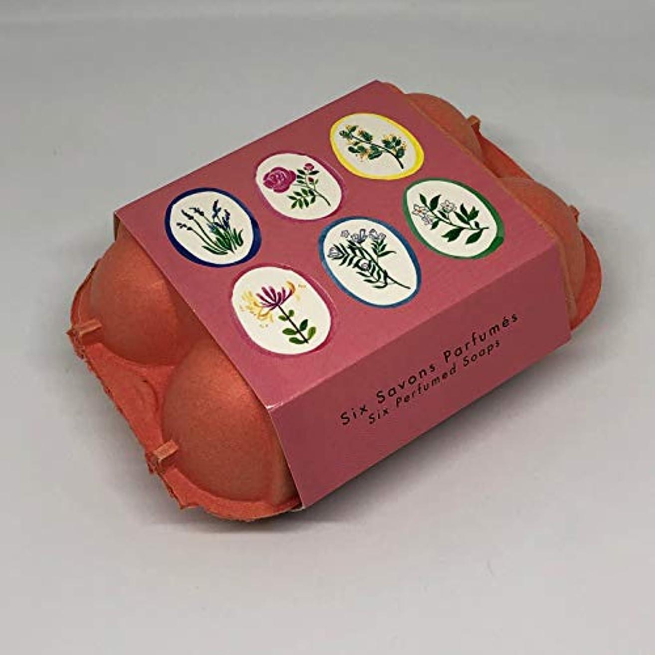 詳細に祖先セーブフラゴナール Fragonard 卵型ソープセット 50g×6個 フランス直輸入 PINK